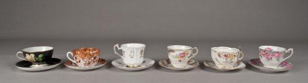12A: Collection of Various Tea Cups & Saucers