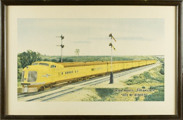 459: Early Print Of The Union Pacific Streamliner