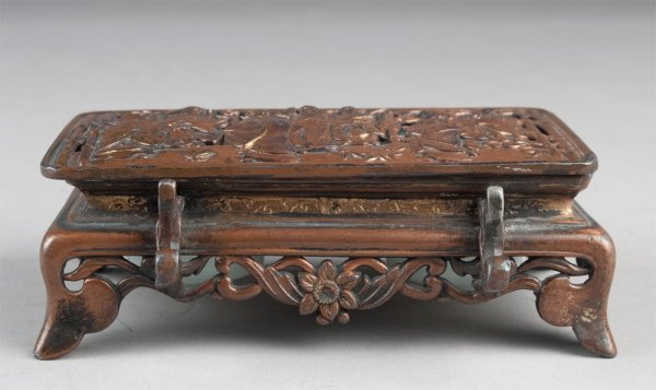 456A: Fine Chinese Or Japanese Inkstand Signed