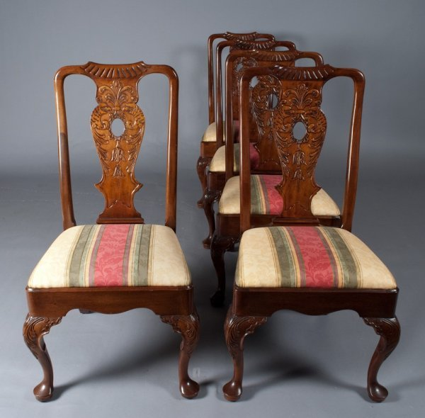 459A: ( 8 ) Henredon Chippendale Side Chairs