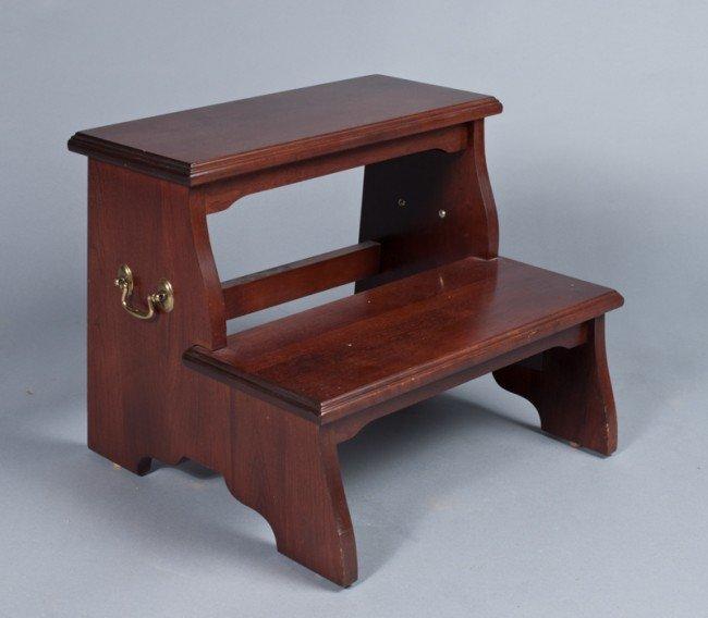 1: Solid Wood Ethan Allen Bed Steps