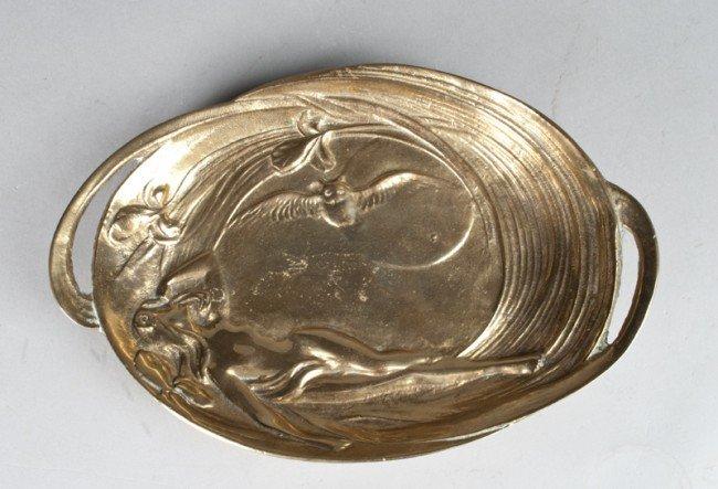 2: Fine Brass Art Nouveau Dish
