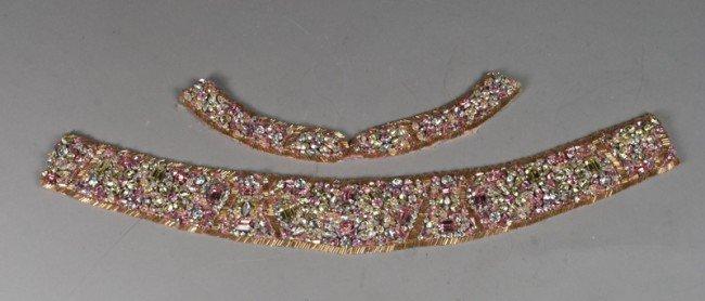 6: Vintage Rhinestone Belt and Collar