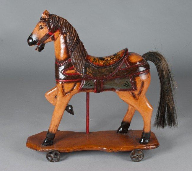 9: Child's Wood Horse Toy