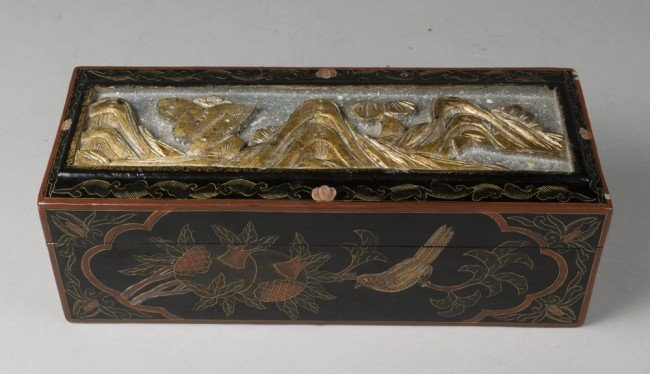 10: Very Fine Chinese Black Lacquer Box