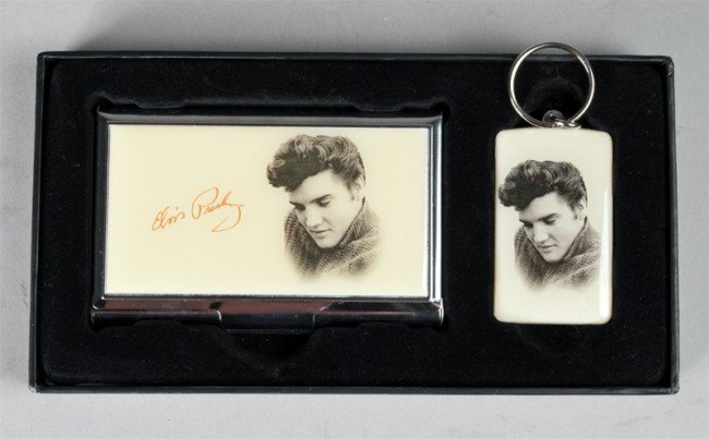 11: Boxed Elvis Card Holder and Keychain