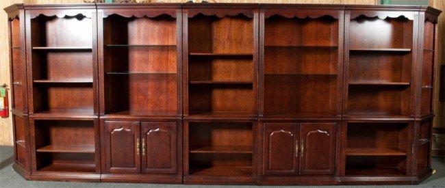 18: (7) Piece Wooden Shelving Unit