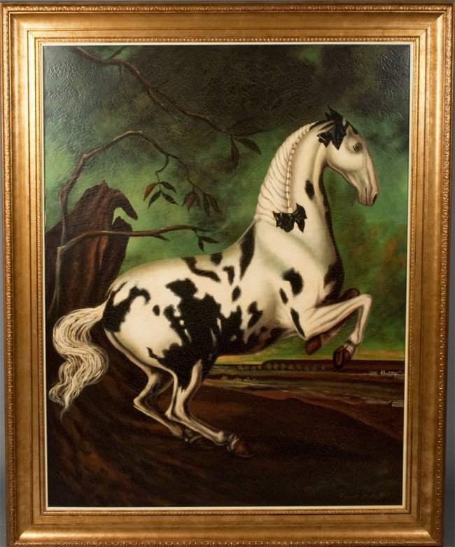 224: Exceptional Reginald Baxter Oil Painting on Canvas