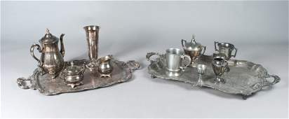 265 12 Pieces of Fine Silver Plated  Pewter Article