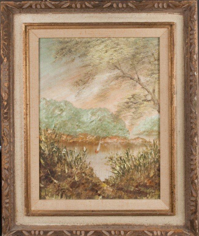 386: John Bordiuk Oil Painting on Canvasboard