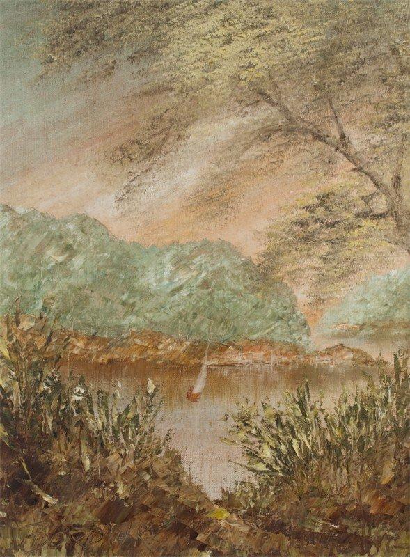 386: John Bordiuk Oil Painting on Canvasboard - 2