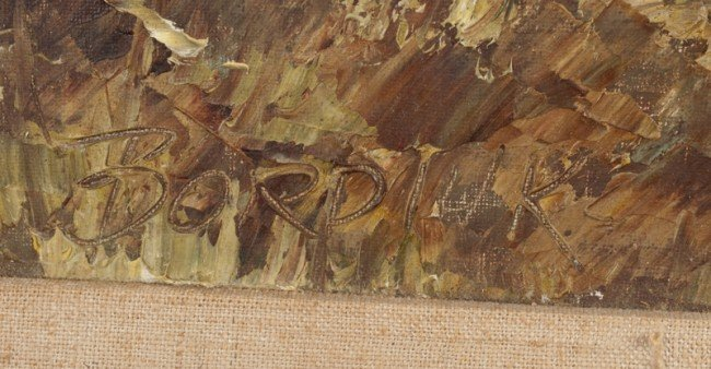 386: John Bordiuk Oil Painting on Canvasboard - 3