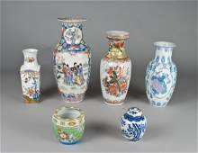 432 6 Chinese  Japanese Porcelain Articles