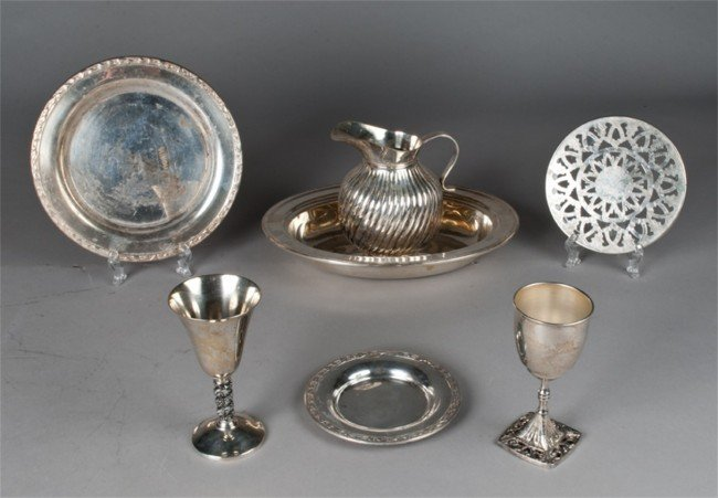 14: (7) Piece Collection of Silver Plate