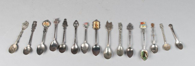 2: Grouping of (15) Souvenier Spoons
