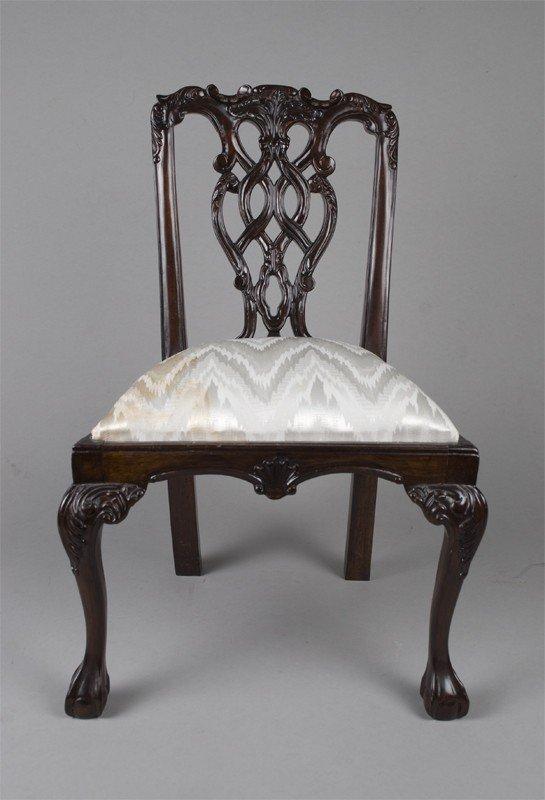 3: Chippendale Doll Chair Circa 1920