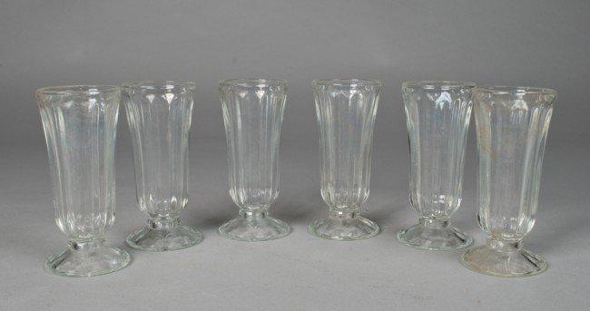 5: (21) Vintage Pressed Glass Parfait Glasses