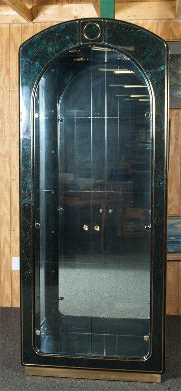 15: A Fine Lighted Glass Curio Cabinet