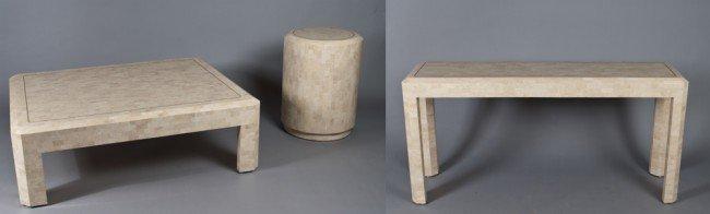 19: (3) Piece Mid. Century Modern Tables