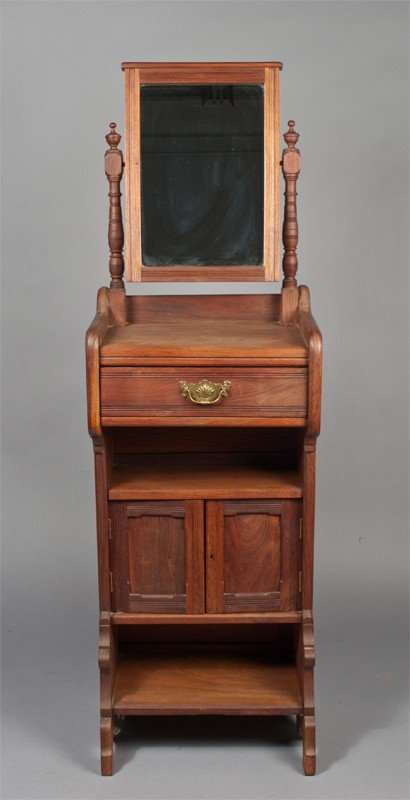 25: Fine Mid. 19th C. One Drawer Shaving Stand
