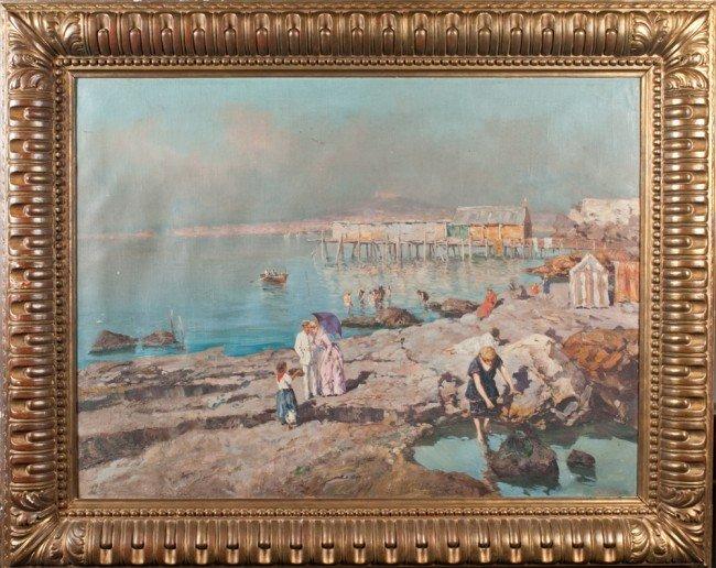 438: Giuseppe Giardiello Oil Painting On Canvas