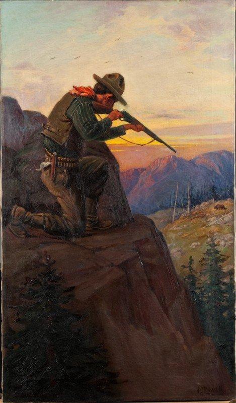 441: Robert Farrington Elwell Oil Painting On Canvas