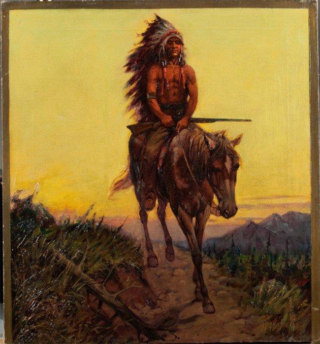 451: Robert Farrington Elwell Oil Painting On Canvas