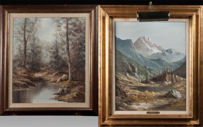 662: (2) Jack Shoemaker Oil Paintings on Canvas