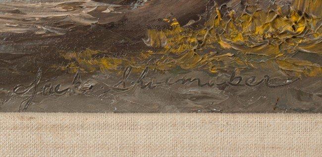 662: (2) Jack Shoemaker Oil Paintings on Canvas - 3