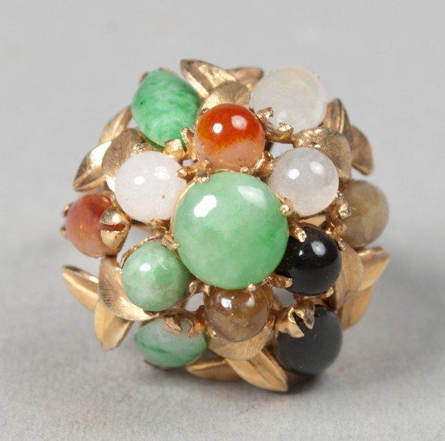 7: Chinese 14K Gold And Jadeite Princess Ring