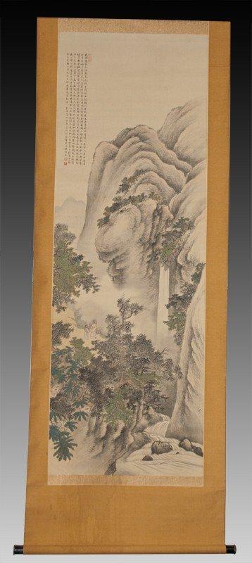 23:Zhang Boying Scroll Painting On Silk