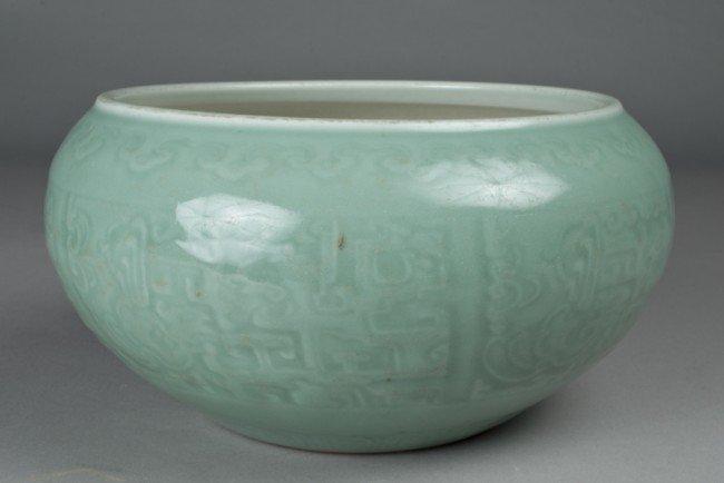 5: Chinese Celadon Glazed Molded Planter