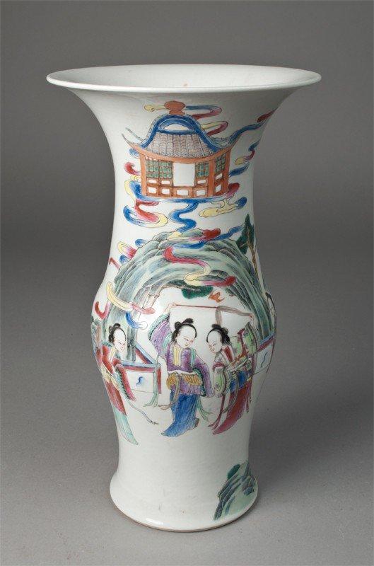 10: Large Chinese Famille Rose Porcelain Vase