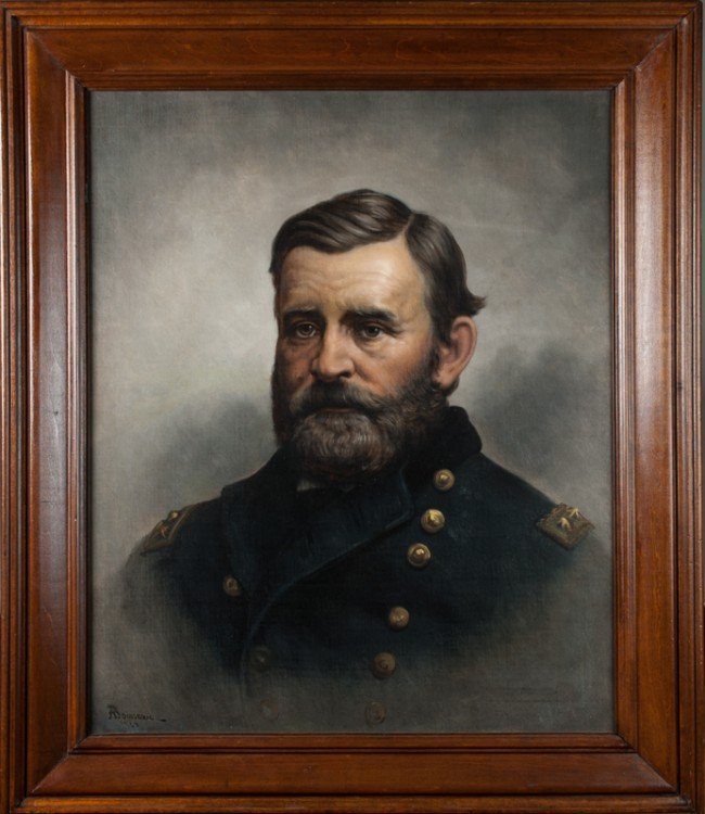 67: Important Alfred L. Boisseau Oil Painting of Grant
