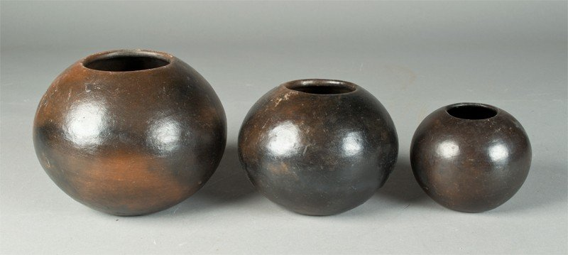 3: (3) Graduated Pottery Jars