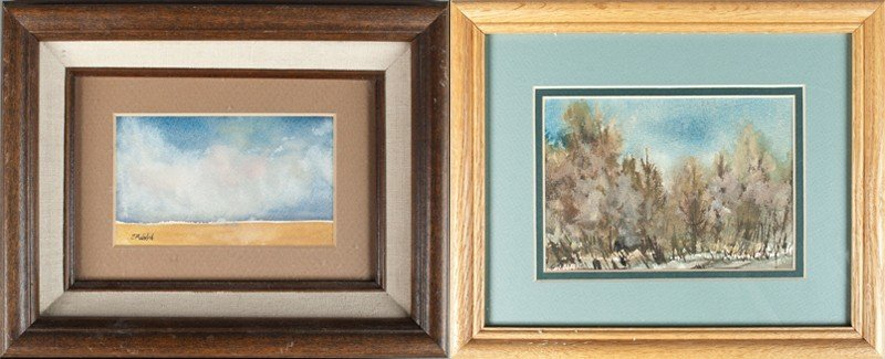 6: (2) E.M. Wolph Watercolor Paintings on Paper
