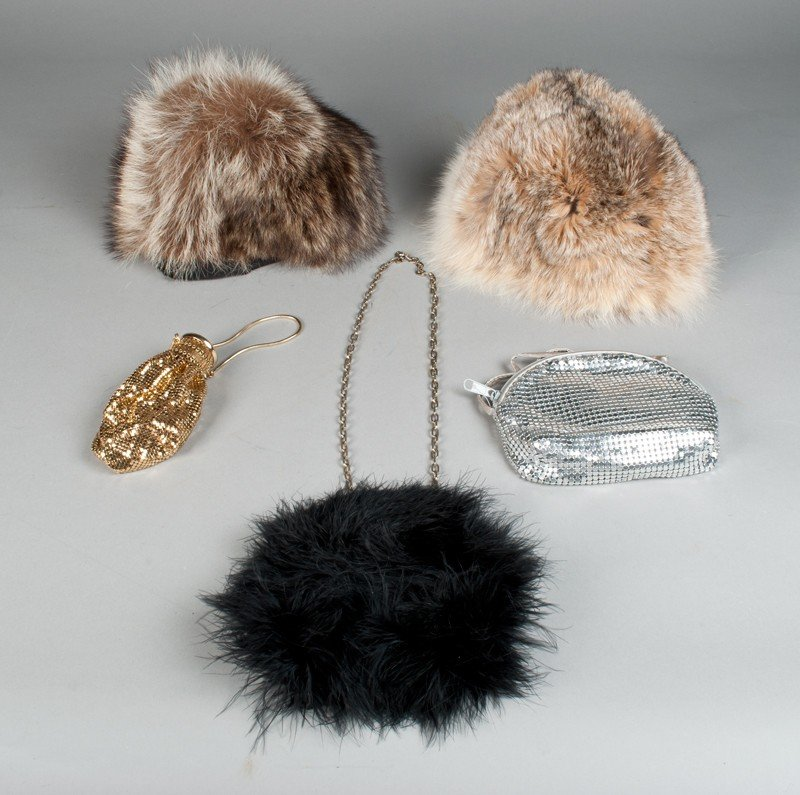 9: (5) Ladies Purses and Fur Hats