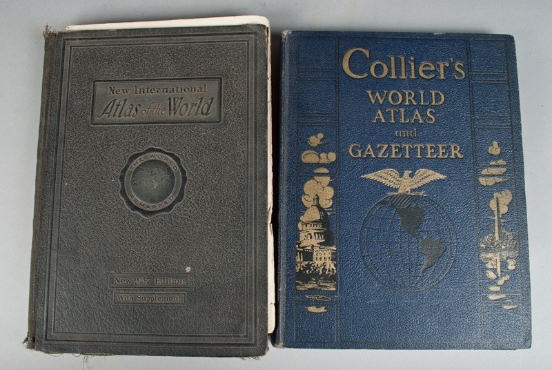 11: (2) Collier's & New International Atlas Books
