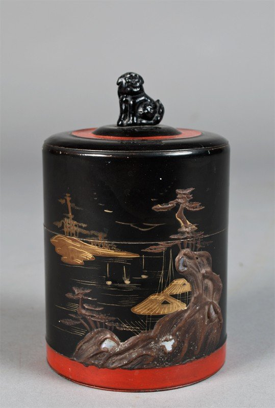 15: Japanese Lacquered Tea Canister