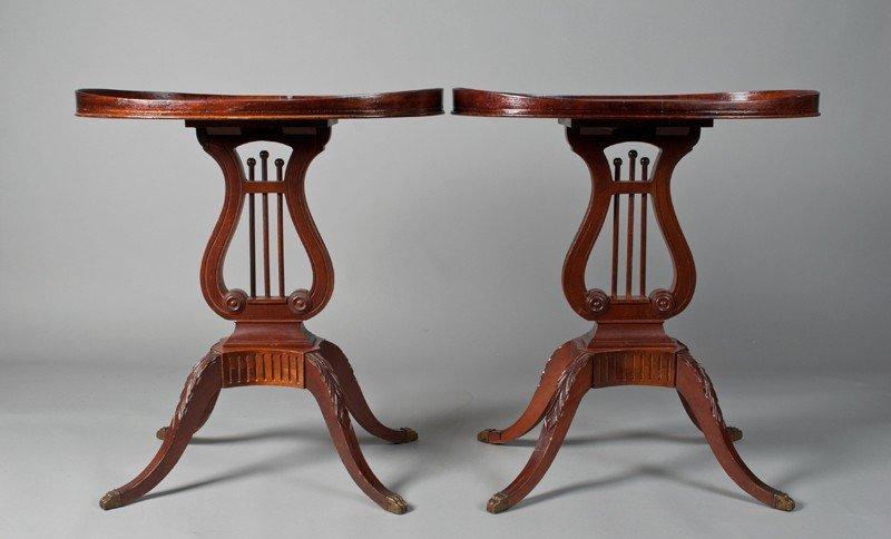 31: Pr. Of Mersman Harp & Lyre End Tables