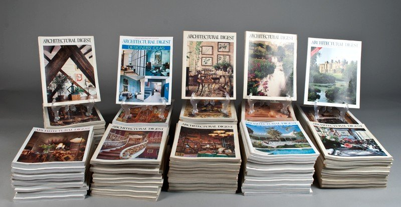 168: (285) Past Issues of Architectural Digest Magazine