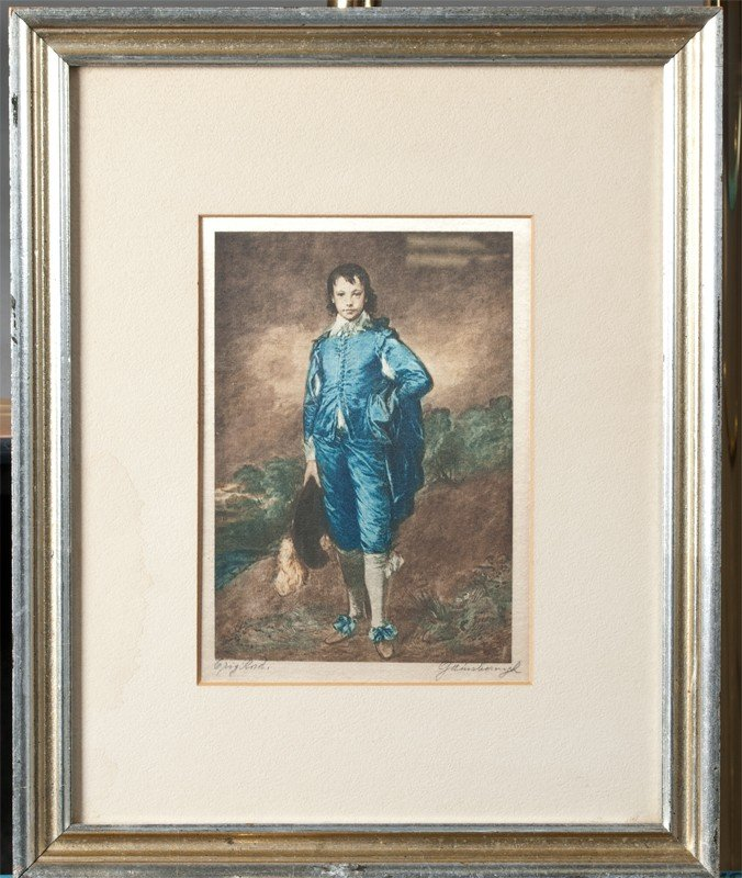 267: Thomas Gainsborough Etching on Silk