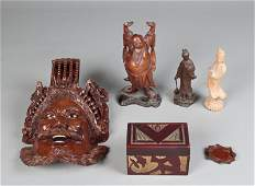 385: (10) Asian Wood Carved Articles