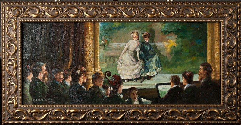 468: Manner of Everett Shinn, Oil Painting on Canvas
