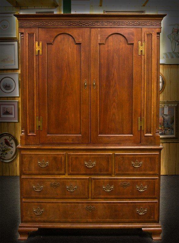 513: A Fine Baker®  Wardrobe in Chippendale Style