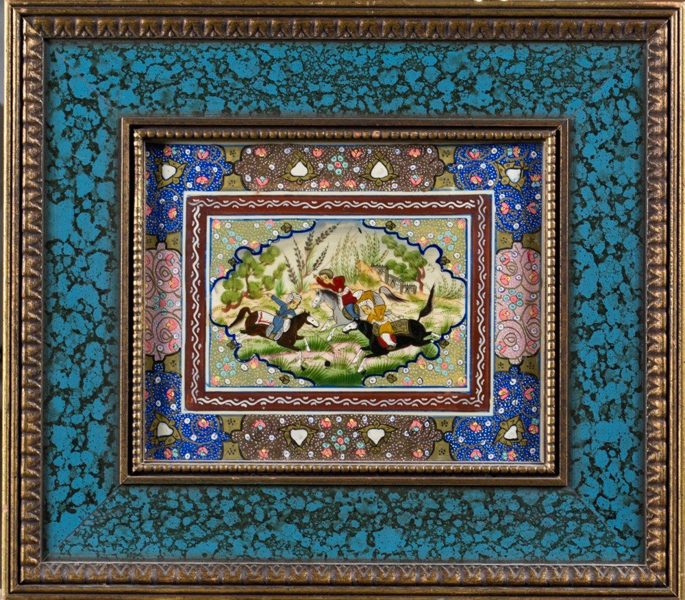2: A Fine Persian Painting on Copper or Tin