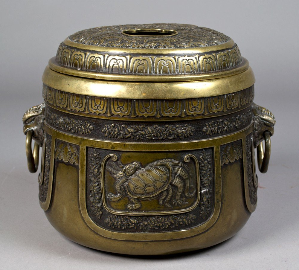 5: Large Chinese Qing Bronze Censer