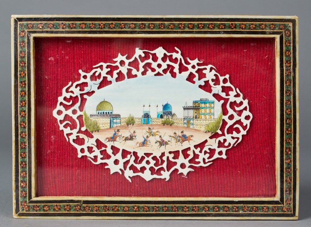 647: An Indian Mughal Painting on Bone