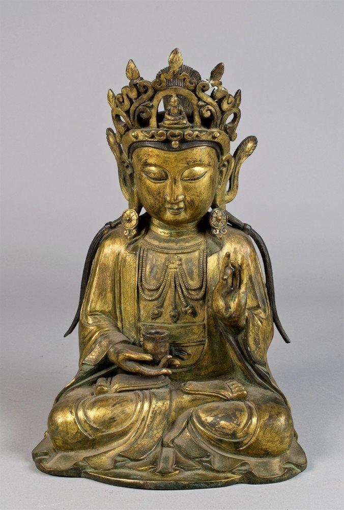 650: A Fine Ming Style Bronze of Budhisattva