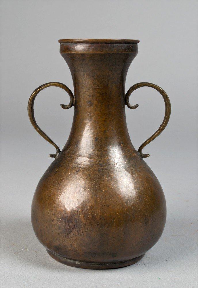 659: Chinese Gold Splashed Bronze Vase